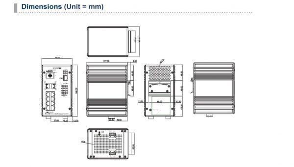 Industrial 10 Port PoE Switch JetNet 5310G