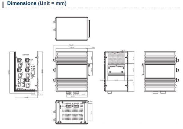 سوییچ صنعتی 9 پورت سری JetNet 6059G